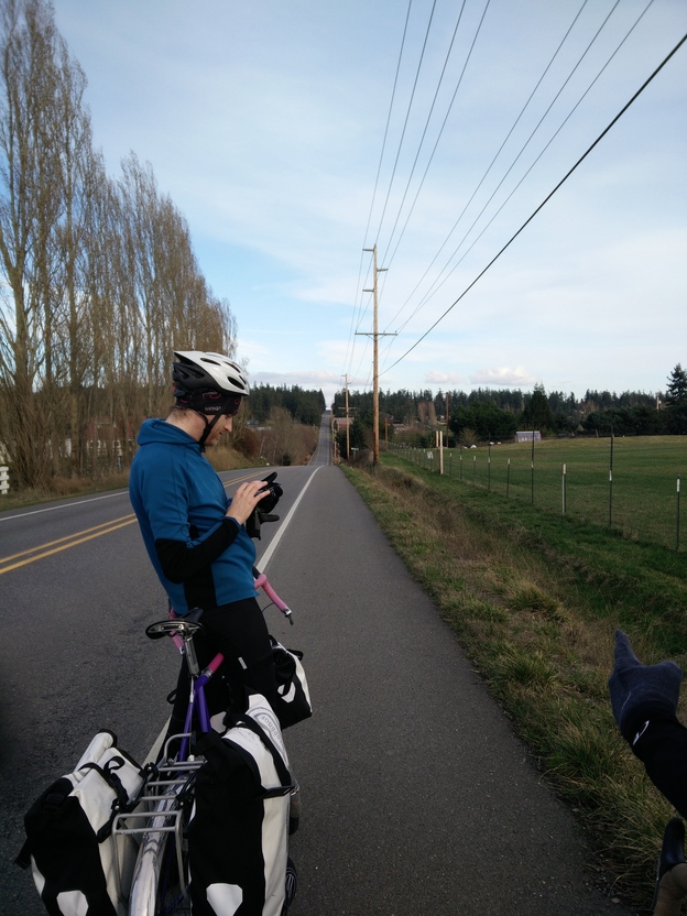 We checked the route to make sure that that was a necessary hill to climb. Unfortunately, it was.